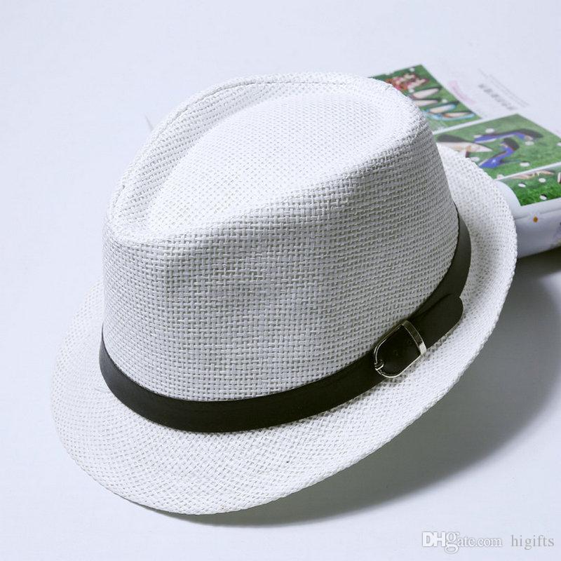 Fashion Straw caps hats for summer korean knitted beach sunshading caps 58 cm for boys girls men women