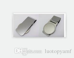 Diy فارغة المال كليب / حامل بطاقة الائتمان الفضة الفولاذ المقاوم للصدأ المال محفظة كليب المشبك بطاقة حامل شحن مجاني
