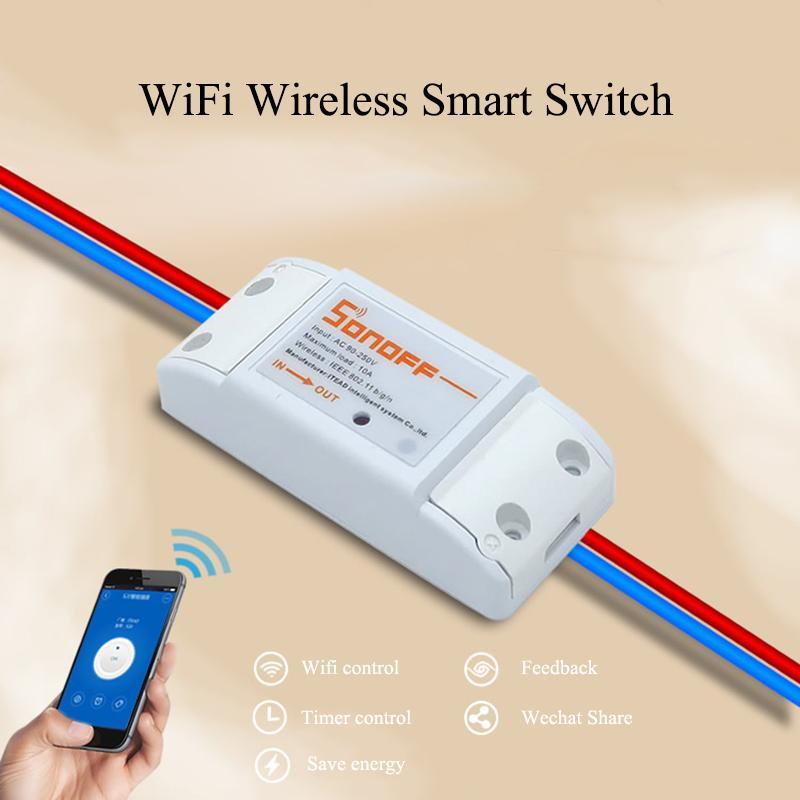 Wholesale Itead Sonoff Wifi Wireless Remote Control Diy