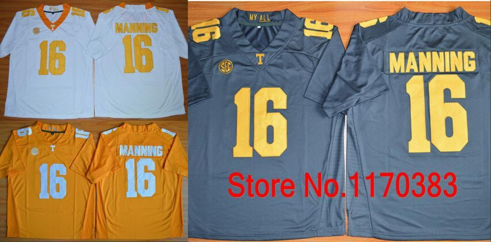 bd267c3b3 ... 2017 Factory Outlet Wholesale New Ncaa 16 Peyton Manning Jersey  Tennessee Volunteers College Football White Orange ...
