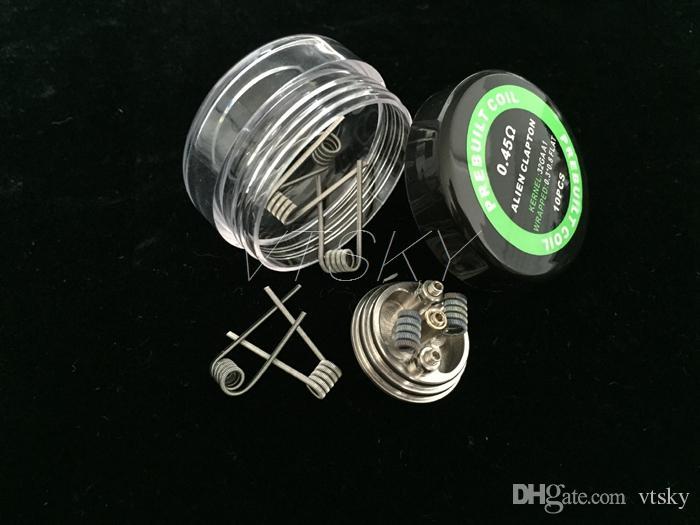 Alien Coil Heating Wires Resistance 0.45ohm vendido por pc 0.3 * 0.8 + 32GA Resistencia Alien Wire Fit RDA RBA E Cigarette DHL Free