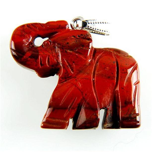 sq11 Carved Red Jasper Elephant Pendant Bead Send Randomly