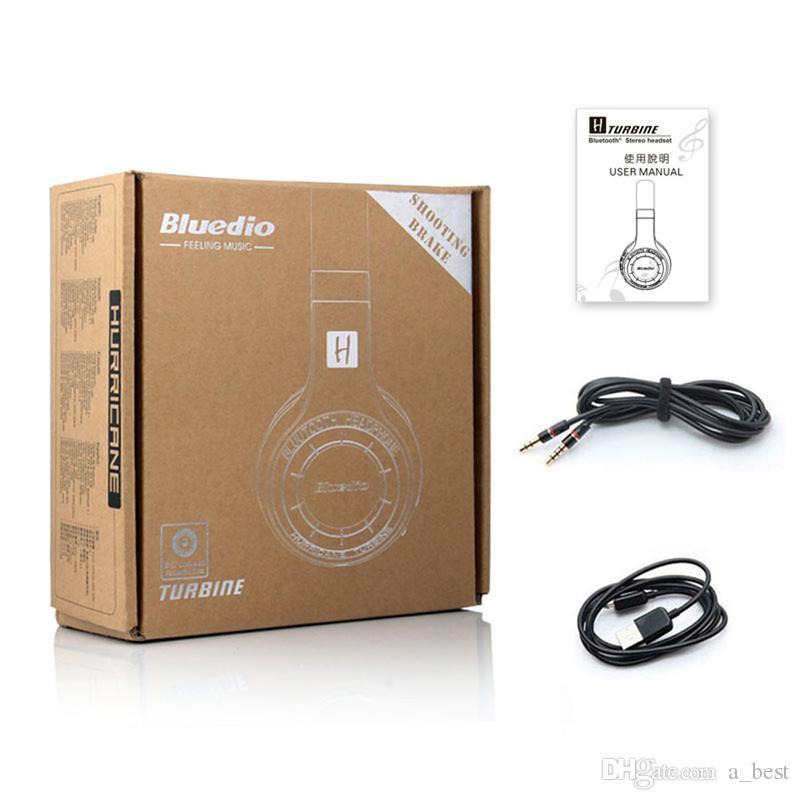 Original Bluedio HT sem fios Bluetooth 4.1 com auscultadores estéreo Estúdio Headsets Built-in Mic Handsfree para chamadas e Streaming de música