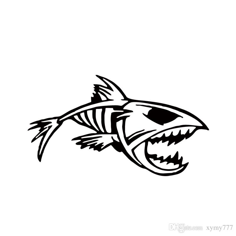 2018 Hot Sale Mouth Skeleton Tribal Fish Vinyl Decal Kayak