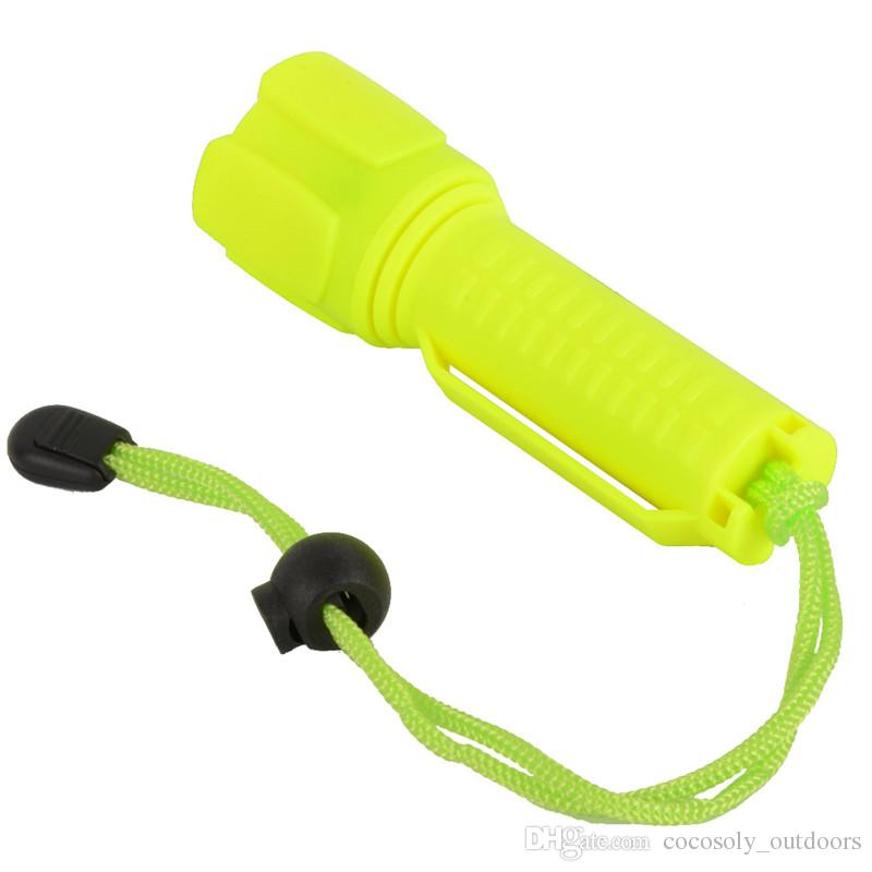 Diving Flashlight 1000LM Waterproof Underwater Torch Light Lamp Swimming Hunting Lighting Yellow Color