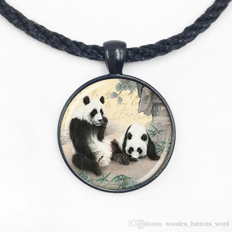 Wholesale wholesale glass lovely couple panda necklace art photo wholesale wholesale glass lovely couple panda necklace art photo glass pendant diy bear jewelry star pendant necklace glass pendant necklaces from aloadofball Gallery
