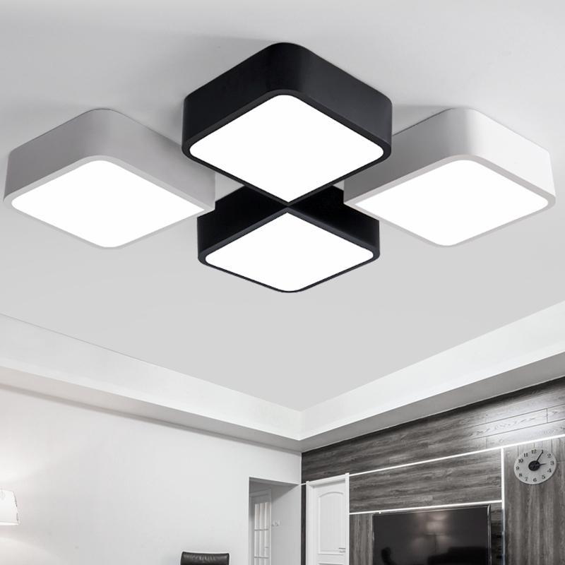 Online Cheap Creative Diy Ceiling Lights Black/White Iron Body ...