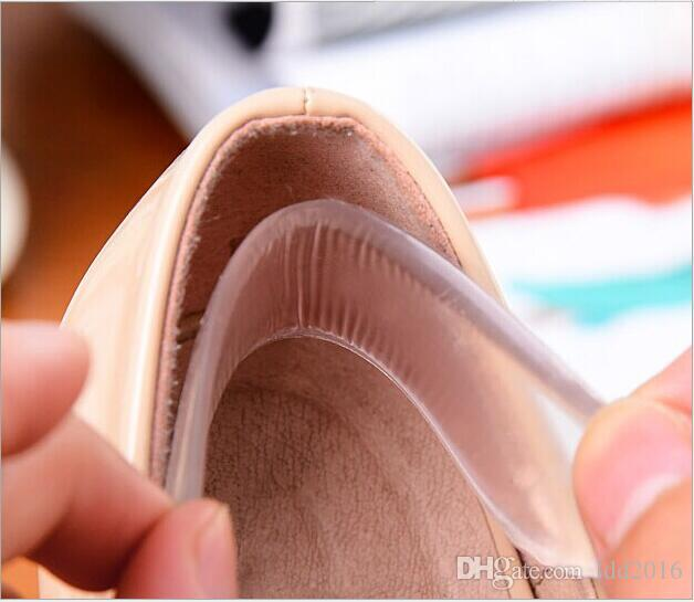 anti-slip transparent silicone heel pads flatfoot gel insoles for shoes protector high heels women soles for shoes sole accessories