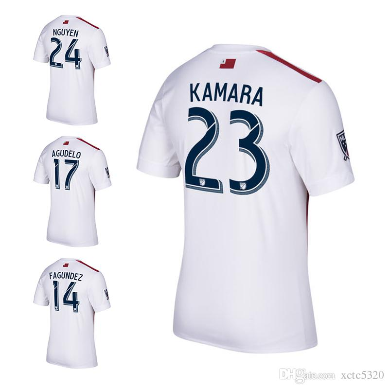 long sleeves goalkeeper soccer country jersey 2017 mls new england soccer jerseys 2017 2018 new arrival england revolutions white with red football