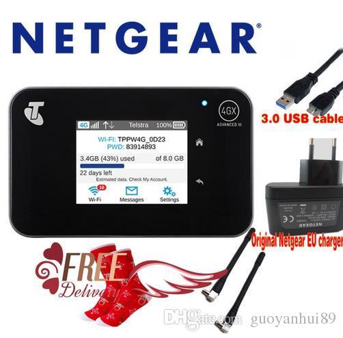 Unlocked 2 4 touchscreen Netgear Aircard AC810S(plus 2pcs antenna) Cat11  600Mbps 4GX Advanced III 4G LTE MiFi Mobile Hotspot