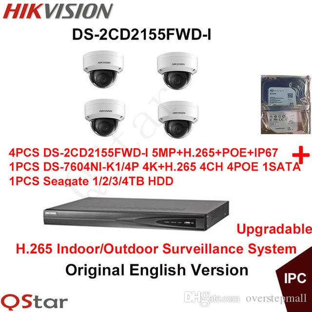 Hikvision Original English H.265 CCTV Security System DS ...