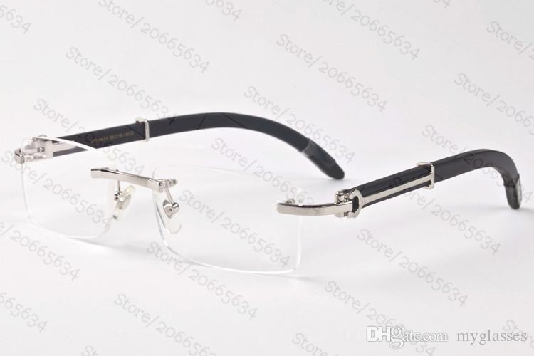 New 2017 Brand Wood Sunglasses For Mens Womens Buffalo Horn Glasses Vintage Designer Rimless Sunglasses With Original boxes