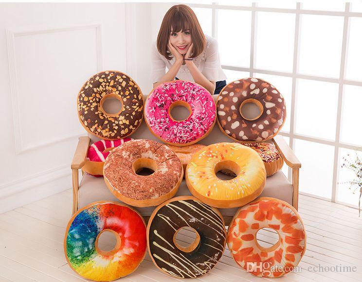 Doughnut Hamburger Cushion Covers Pillow Case Decorative Throw Pillows Covers Christmas Gifts Stock!