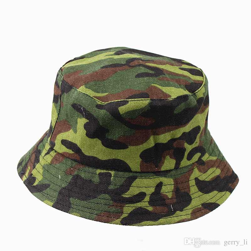 Unisex Adult Flat Reversible Bucket Hats Camouflage Fisherman Caps Outdoors Sun Protective Beach Hat