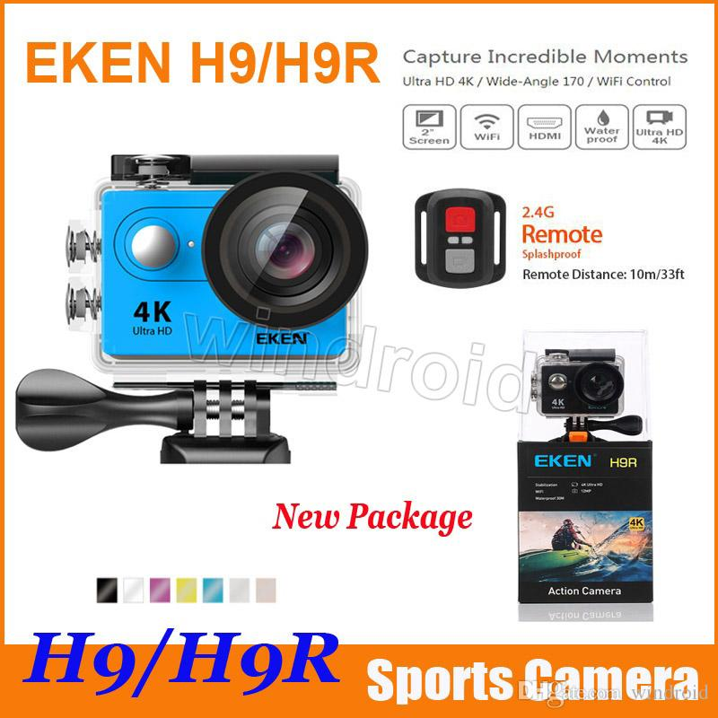 Original EKEN H9 H9R 4K WiFi HDMI 1080P 2.0 LCD 170D Action Camera with Remote control waterproof Sport sports camera DV Free shipping