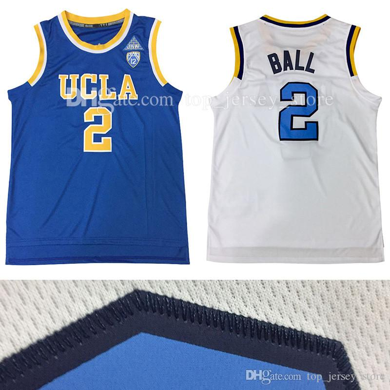 2018 Cheap 2017 Ucla Bruins Lonzo Ball 2 College Basketball Jersey 100%  Stitched Jerseys High Quality White Blue S Xxl From Top jersey store e051aaa02