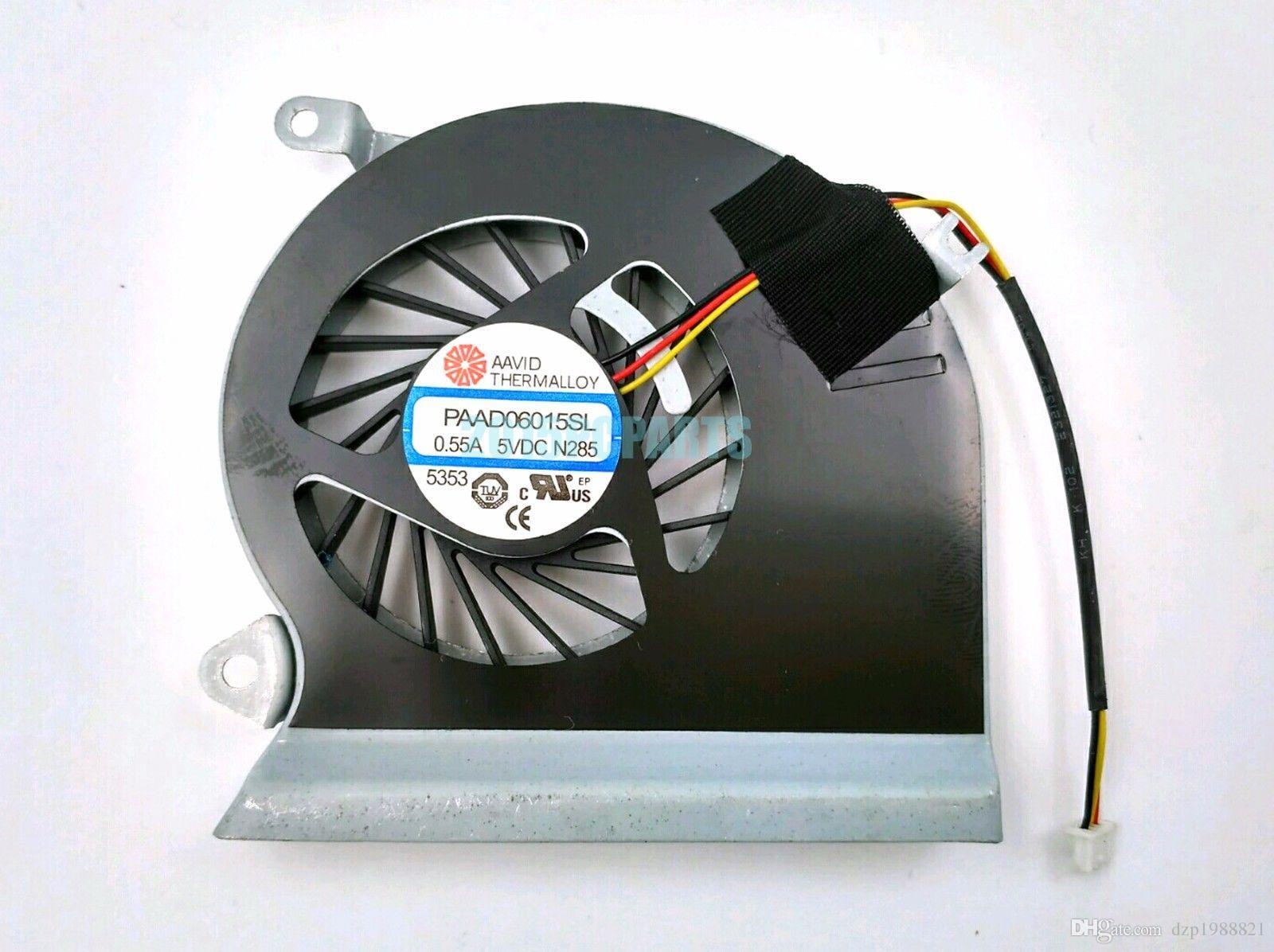Nuevo ventilador original de la CPU para MSI GE70 MS-1756 MS-1757 CPU refrigerador de refrigeración del ventilador PAAD06015SL 3pin 0.55A 5VDC N285