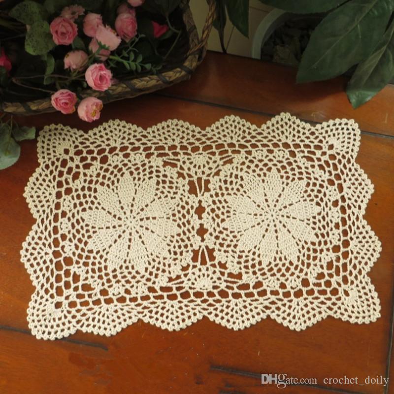 Of Crochet Hook Beige Home Textiles Handmade Crochet Table Mats