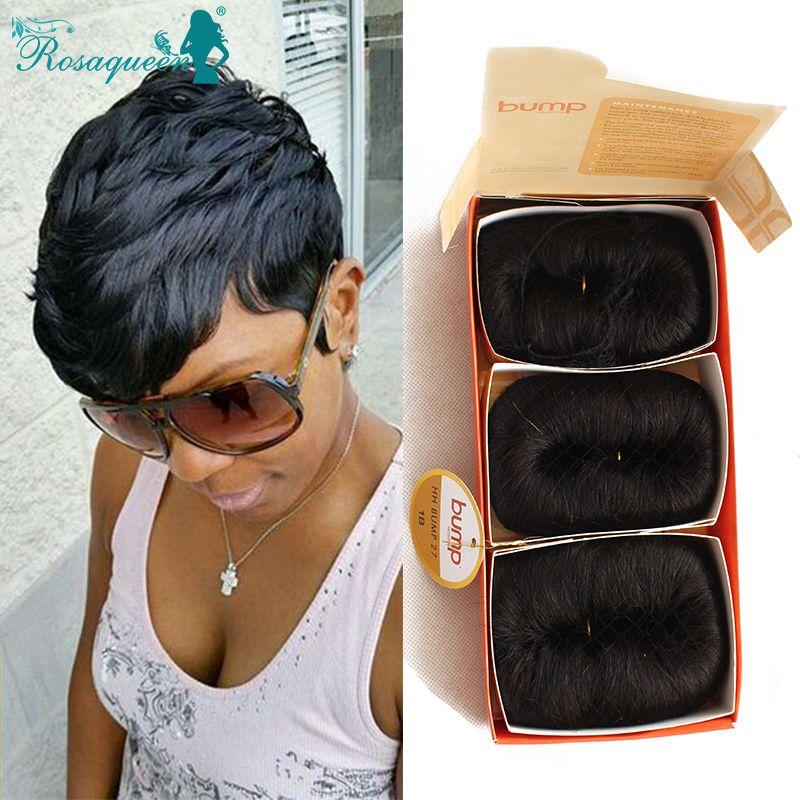 2018 Wholesale Human Hair Short Bump Weave Brazilian Virgin Hair