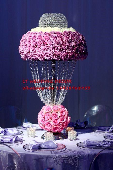 Großhandel 35cm Durchmesser 70cm Hoch Hochzeit Tisch Herzstück / Blume  Stand Blumenvase Hochzeit Straße Führen Hochzeit Tischdekoration Von  Tomchou, ...