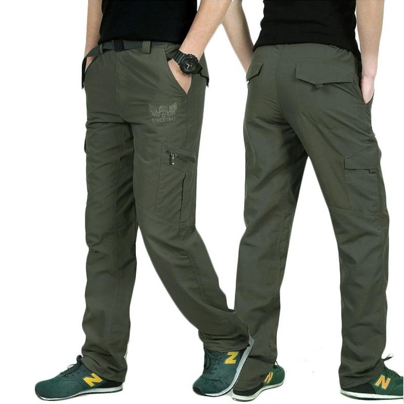 744640cfdd8 2019 LOMAIYI Plus Size Mens Military Style Cargo Pants Men Summer  Breathable Male Trousers Joggers Army Pockets Casual Pants