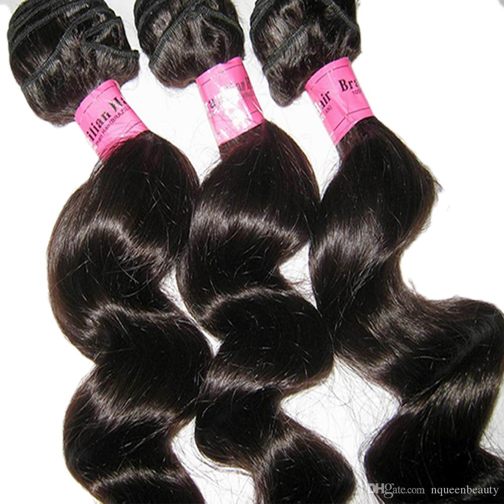 بريميوم ستار نيو القادمة نسج طبيعي 100 ٪ البرازيلي العذراء الشعر فضفاض موجة 3 حزم مبيعات فلاش