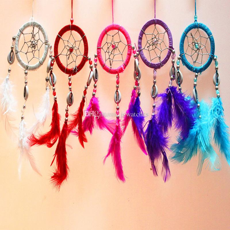 Pure White Feather Woven Dream Catcher Circular Net With: 2019 Handmade Dream Catcher Net With Feather White Beads