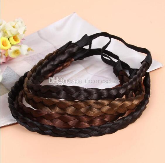 Fashion hair ornaments Bohemia twist braid hair band hair wig decorative headband hair braids wholesale