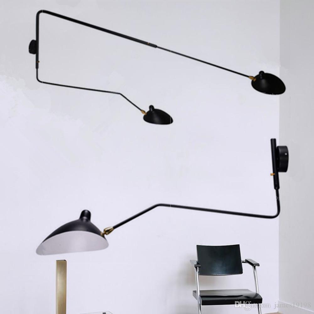 mouille lighting. 2017 modern long serge mouille arm rotating wall sconce light lamp bar lighting from james19198 10853 dhgatecom a