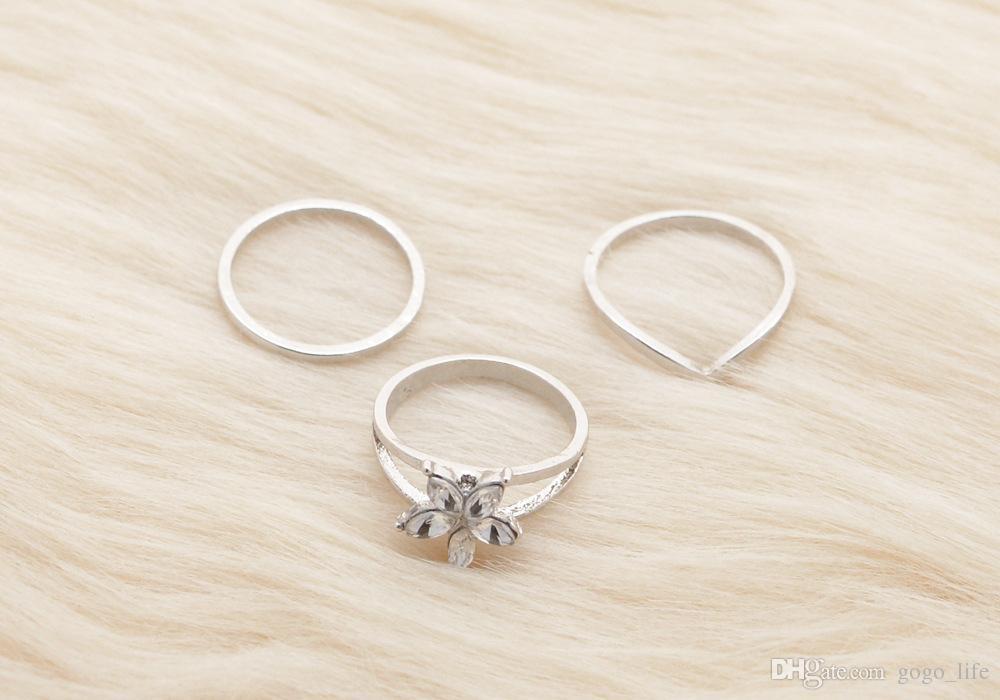 3 stücke Großhandel Verstellbaren Zehenring Mix Promi Mode Einfachen Retro Geschnitzte Blume Frauen Fuß Schmuck Fingerringe Tropfenfrei