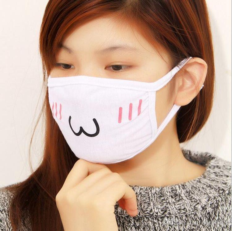 Cute Kawaii Anime Kaomoji-kun Emotication bocca-muffola Winter Cotton Funny Mouth Anti-Polvere Maschere il viso