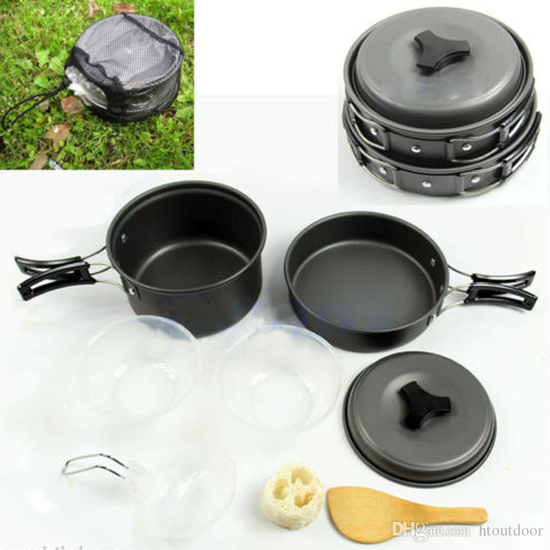 e81f3b62f 8 in 1 Aluminum Alloy Outdoor Camp Kitchen Camping Hiking Cookware ...