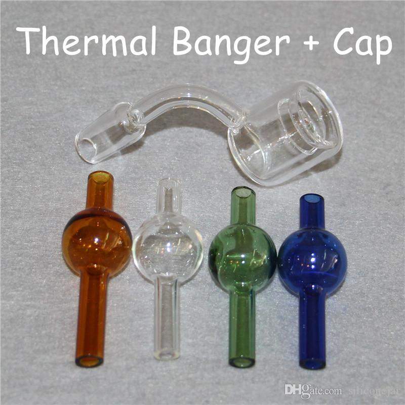 XXL Quartz Thermal Nails 10mm 14mm 18mm Double Tube Quartz Thermal Banger Nail For Glass Water Pipes Oil Rigs Glass Bongs