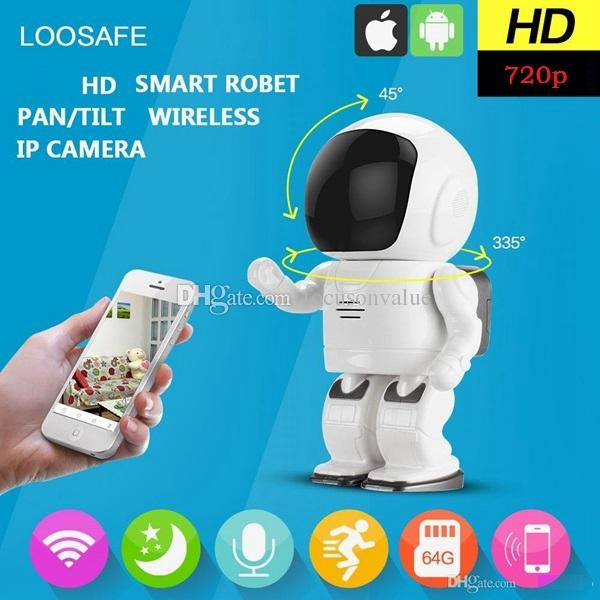 Robot camera Wifi 720P 1.0MP HD Wireless IP Camera Wi-fi Night Vision Camcorder IP Network Camera CCTV support two-way audio