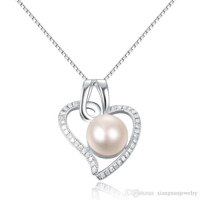 2018 s925 silver pendant heart necklace pearl pendants woman pearl 2018 s925 silver pendant heart necklace pearl pendants woman pearl necklaces sweet necklace wedding jewelry wholesales a108 from xiangnanjewelry aloadofball Gallery