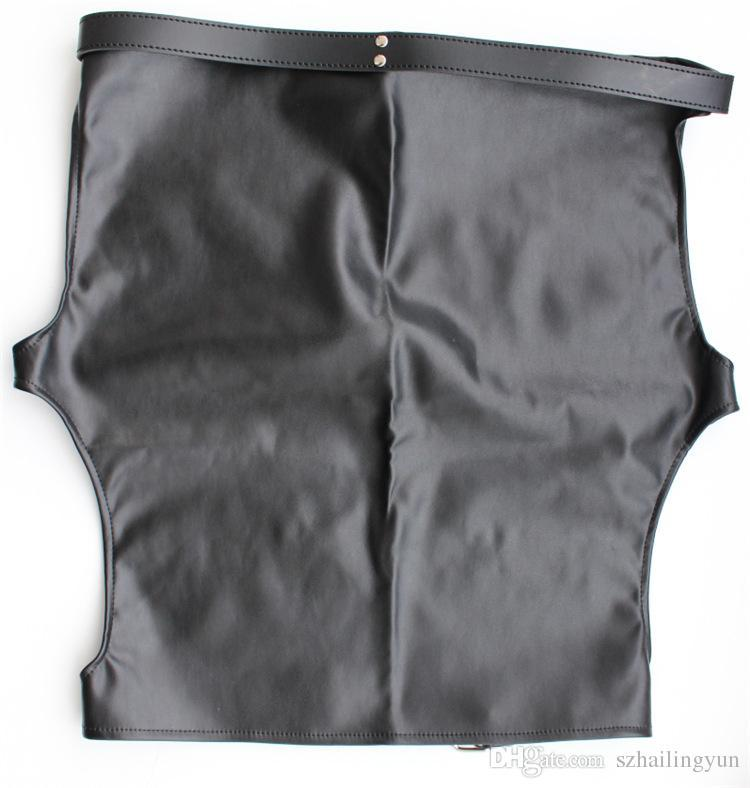 Hot Sexy Female Faux Leather Slave Spanking Skirt Open Hip Tight Fit Bondage Fetish Lingerie Mini Dress