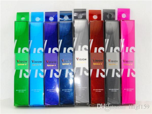510 ecig vape pen Vision spinner 2 ii البطاريات المزودة بشاحن الدوار الدوار Ego تويست 3.3-4.8 فولت بطارية الجهد المتغير DHL شحن