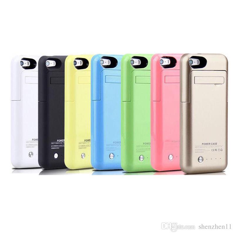 dd7146198d6 Compre 2200mah Caja De La Batería Del Teléfono Inteligente Para El Iphone 5  5S Banco De La Energía Del Usb Portátil Respaldo Externo Cargador De  Batería ...