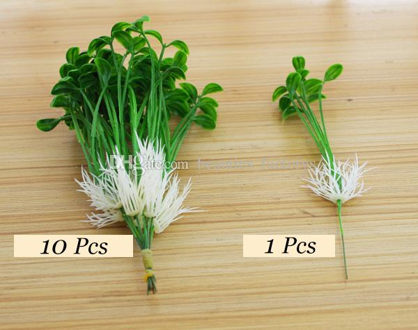 Artificial Bean Sprouts Small Leaves Plant 6 Branches Clover Grass Foliage Flower Leaf Garland Plant Home Decoration