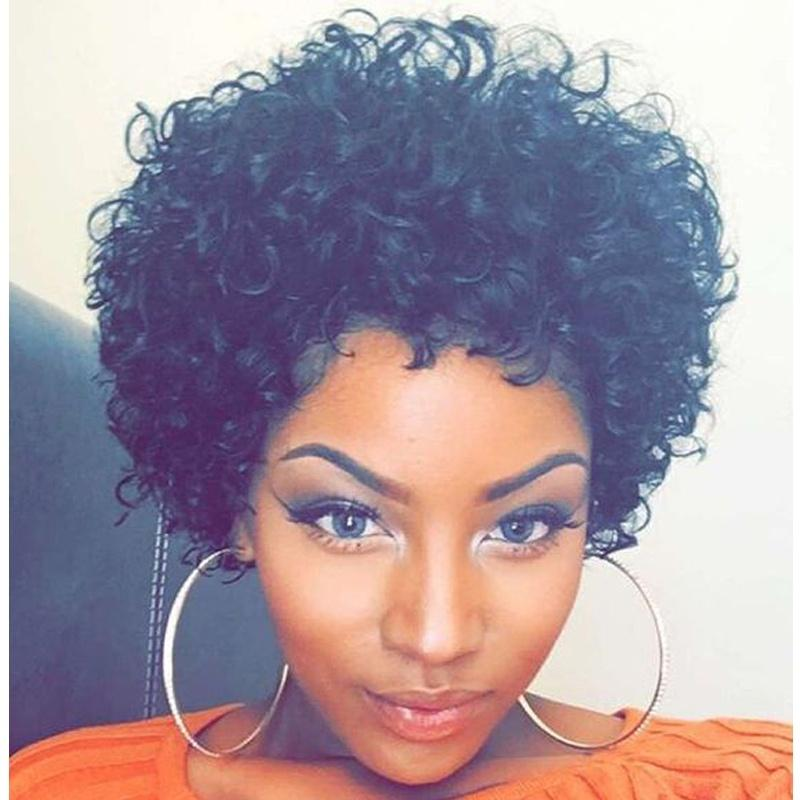 Black Girls Love Curly Black Synthetic Hair Wigs For Black Women