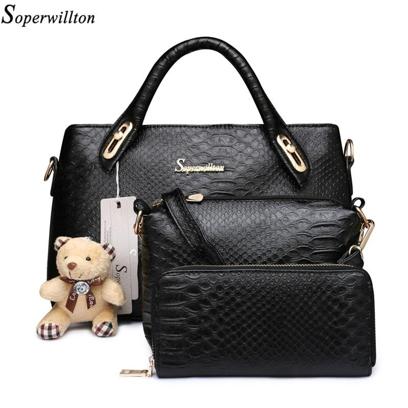 Wholesale Soperwillton Famous China Brand Women S Bag Top Handle Serpentine  Embossed Print Women Messenger Bags Handbag And Wallet  1104 Discount  Designer ... 0dcb18587f823