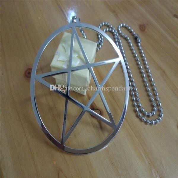 venden al por mayor la venta al por mayor satanica del Pentagram de la adoración de Wicca Pagan Wicca pagano alto grande del acero inoxidable 4 '
