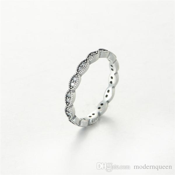 Bagues feuilles S925 en argent Sterling pour un bracelet et des breloques de style pandora pour les femmes