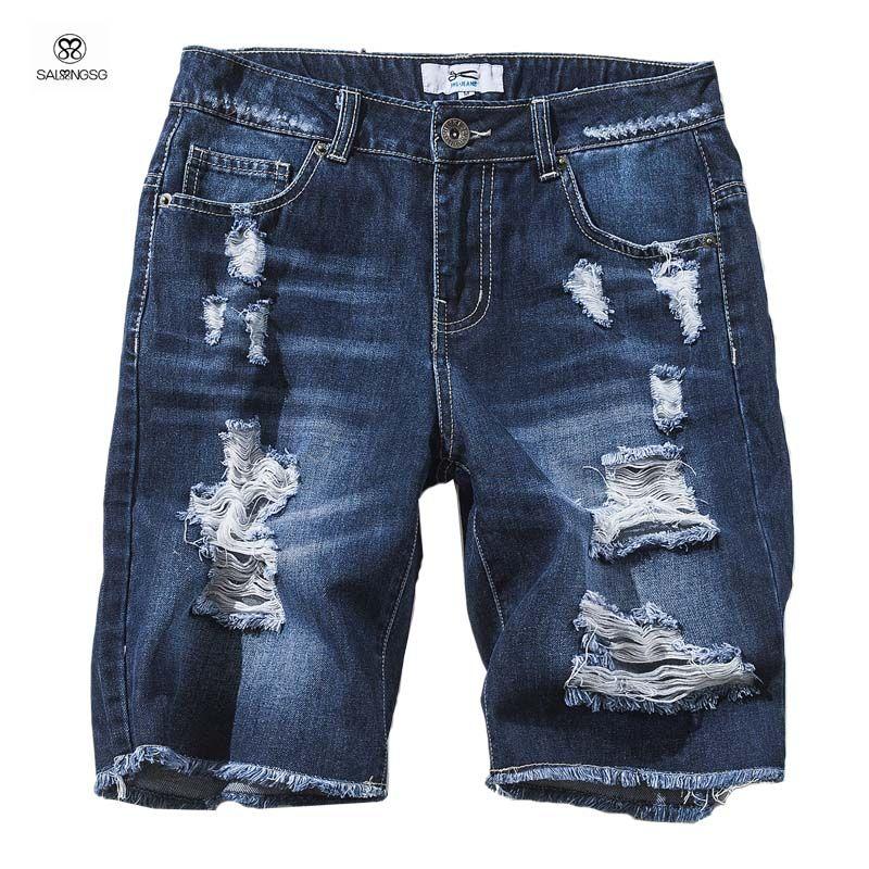 Assez 2018 Wholesale Brand Design Men'S Denim Shorts Homme Summer 2016  RD95