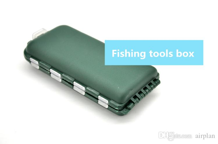 Delicate Army Green Plastic Fishing Tackle Box Compartments 8 Storage Hook Case Outdoor Pesca Fishing Box Lure Bait Storing Tool