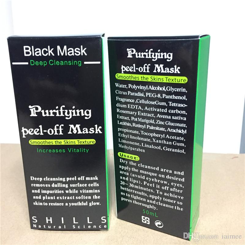 Máscara de succión negra Anti Envejecimiento 50 ml SHILLS Limpieza profunda purificante peel off Mascarilla negra Eliminar espinillas peel máscaras envío gratis