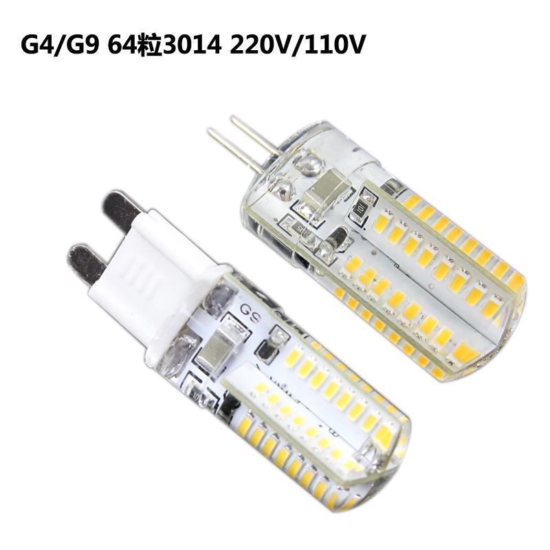 Grosshandel G4led Lampe G9 Flachstecker 3w Led Lampe 220v 110v 64