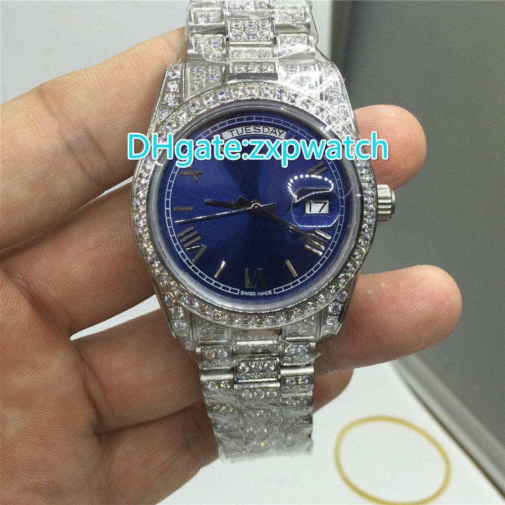 Full diamond aaa thermal full diamond mechanical mens watch luxury brand luxury watch calendar for Thermal watches