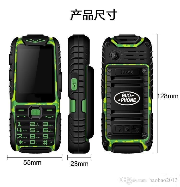 wholesale A6 Mobile Phone With Power Bank 9800mAh Dual Sim Card Shockproof Dustproof Cell Phone A6 Can ADD Rusian Keyboard