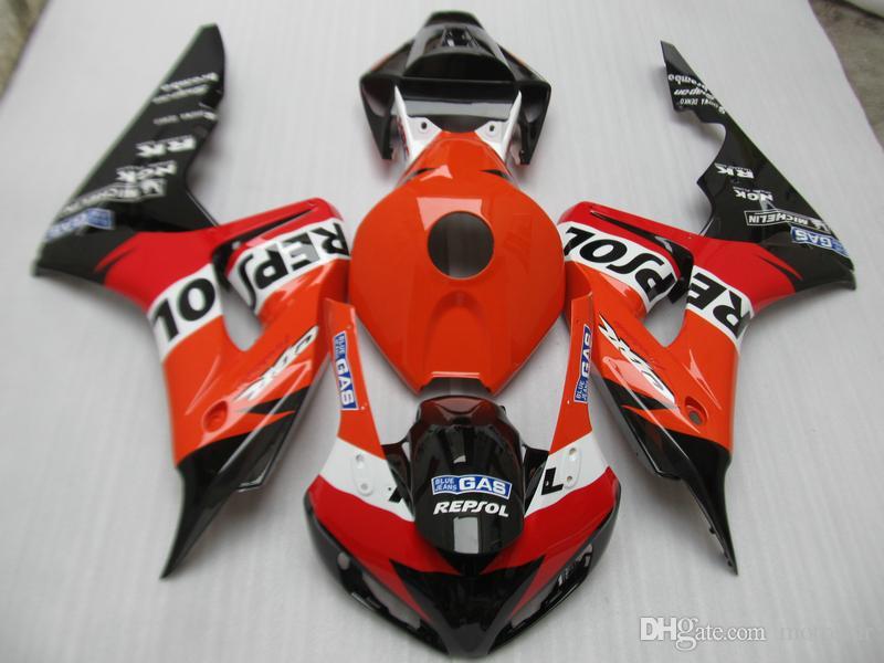 Литье под давлением бесплатно 7 подарков обтекатель комплект для Honda CBR1000RR 04 05 красный черный обтекатели комплект CBR1000RR 2004 2005 OT18